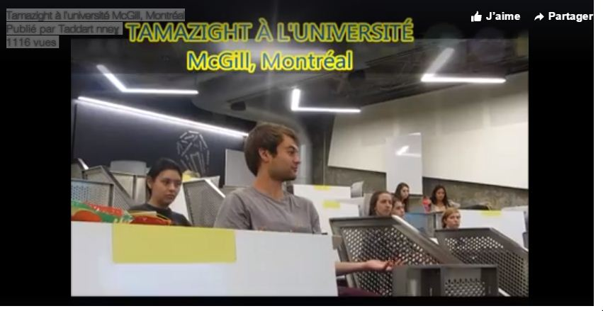 Tamazight à l'université McGill de Montréal.