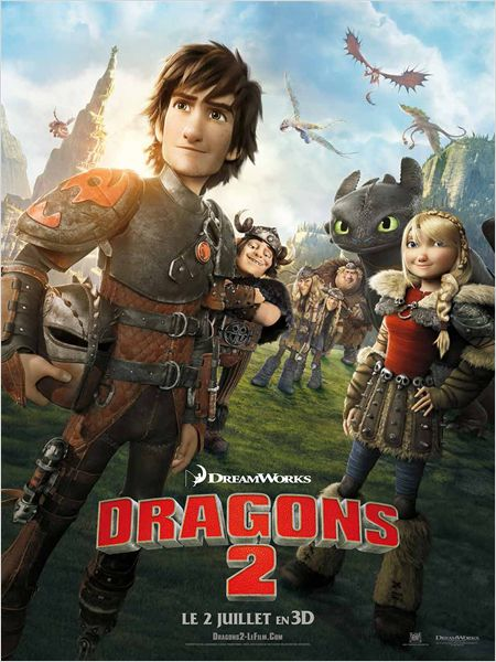 "Une affiche du film ""Dragons 2"""