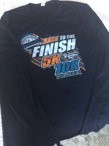 Over 40 Runner 10k long sleeve shirt Hot Springs Arkansas runner Spak10k