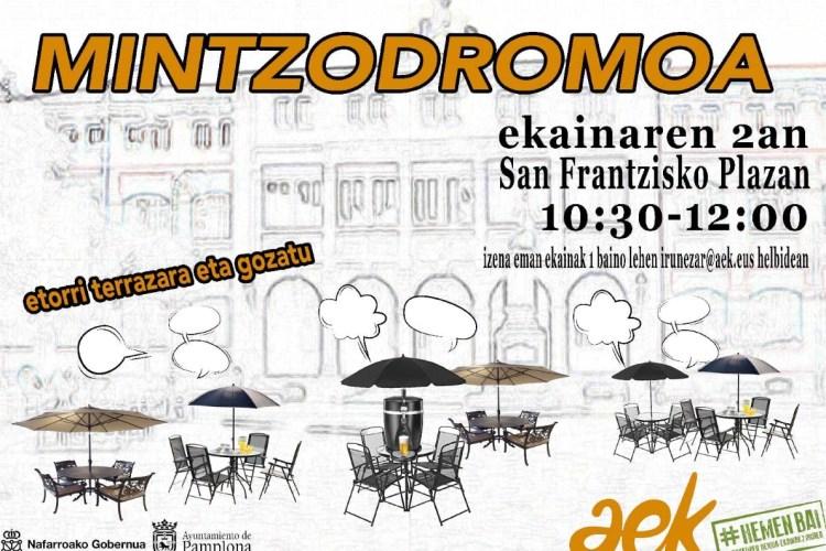 MINTZODROMOA.  Ekainaren  bian  San  Frantzisko  plazan.  Etorri  gure  terrazara!