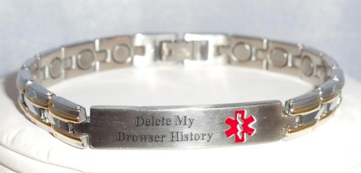 Tags: medical-emergency bracelet delete-my-browser-history information die