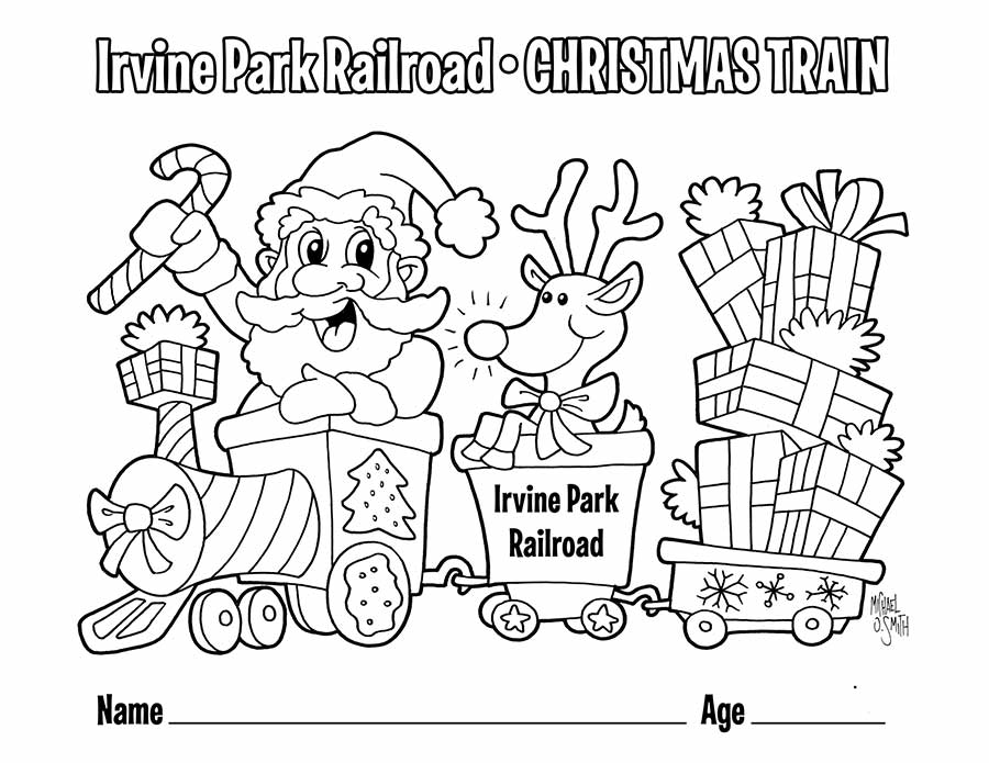 Children S Coloring Page Irvine Park Railroad
