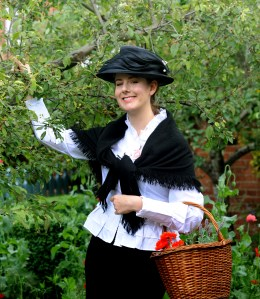 The annual Hidden Gardens of Bury trail was the ideal chance for Jess Hughes to start getting into character as Eliza Doolittle, which she will perform at the Theatre Royal in November during Irving Stage Company's production of the much-loved musical. Dressed as the Cockney flowergirl that Professor Higgins meets at the start of the show, Jess visited one of the participating gardens by kind permission of Stephen and Marcia Oliver. The annual event allows visitors into many of Bury's beautiful secret  gardens to raise money for St Nicholas Hospice Care.   PICTURE: Andy Abbott