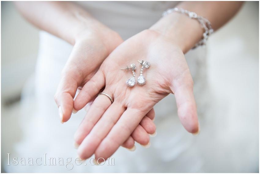 bride getting ready earrings