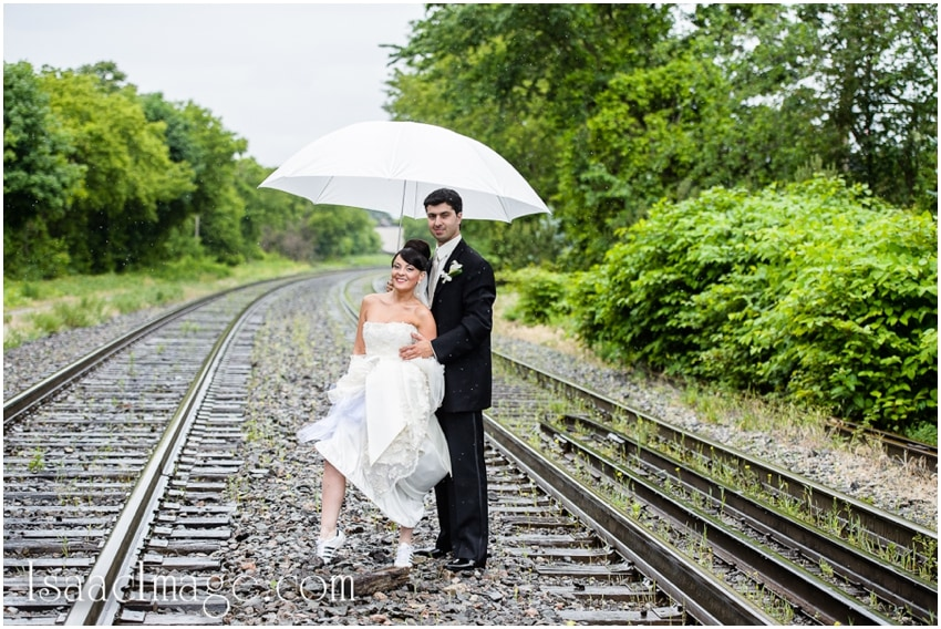 bride groom on the railways