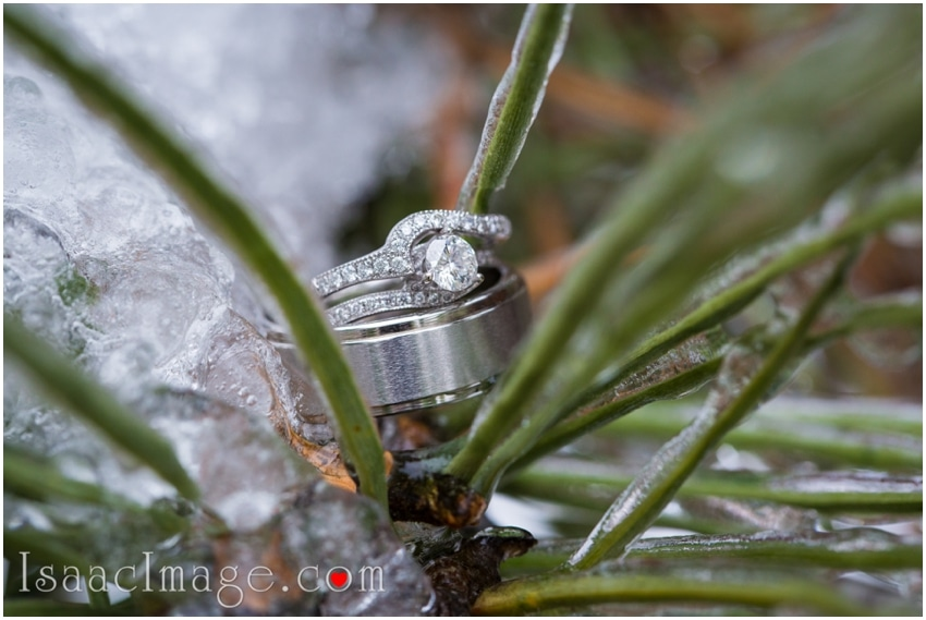 wedding ring frozen ice storm toronto