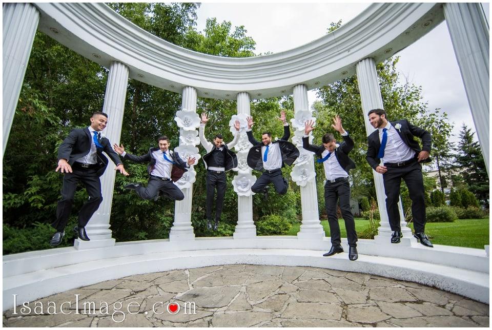 Grooms mans jump shot Paradise Banquet Hall