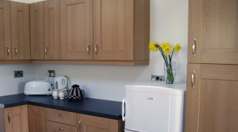 Large fridge and freezer will hold all the fresh food that you need for your stay. I