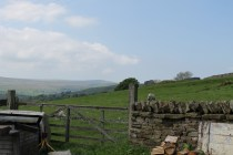 Spring view from Isaac's Byre holiday cottage.