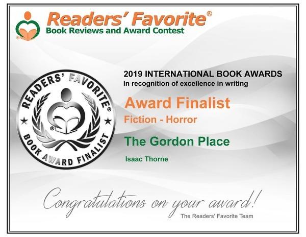 Readers Favorite Award Finalist Certificate