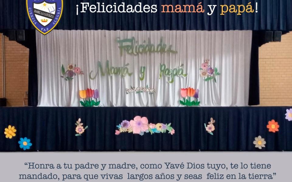 Invitación a la eucaristía y celebración de las mamás y papás