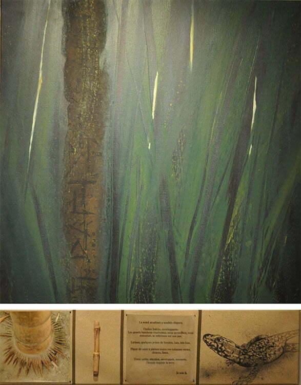 La bambouseraie, Anduze - N°3 - 103x80 cm - technique mixte - 500 €.