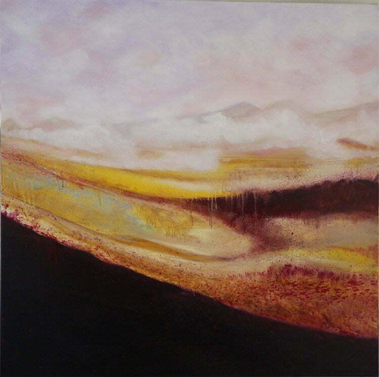 Automne (Velay) - N°12 - 100x100cm - huile sur toile - novembre 2014 -Collection particulière.