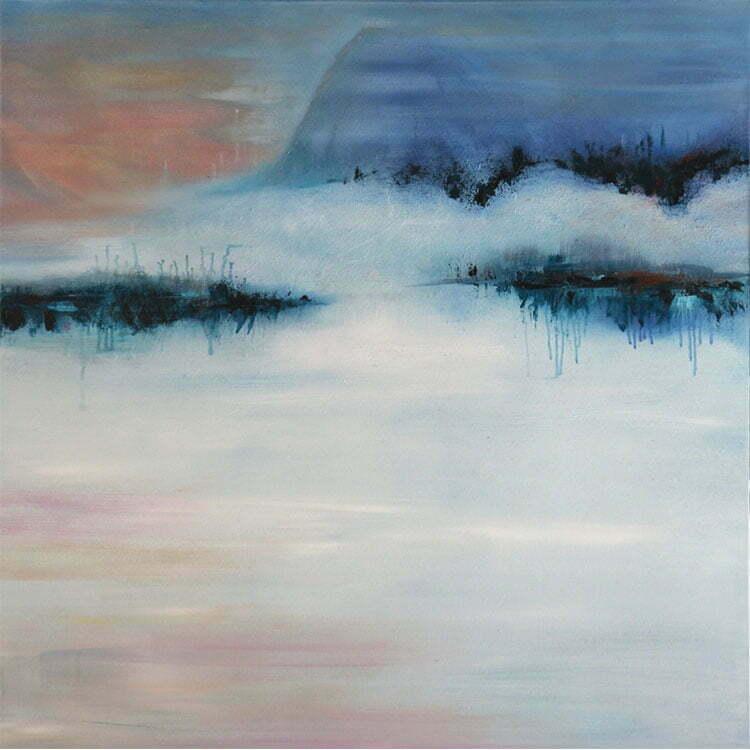 Aurore (Pyrénées) - N°8 - 100x100cm - huile sur toile - avril 2014 - collection particulière.