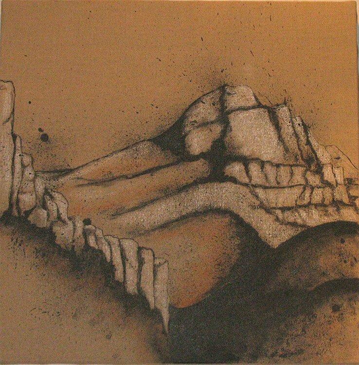 Sainte-Victoire N°2 - 60x60cm - encre de Chine sur toile - 2007 - Collection particulière.