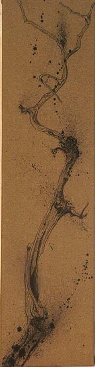 Branche de cade - N°4 - 20x100cm - encre de Chine sur toile - 2009 - collection particulière.