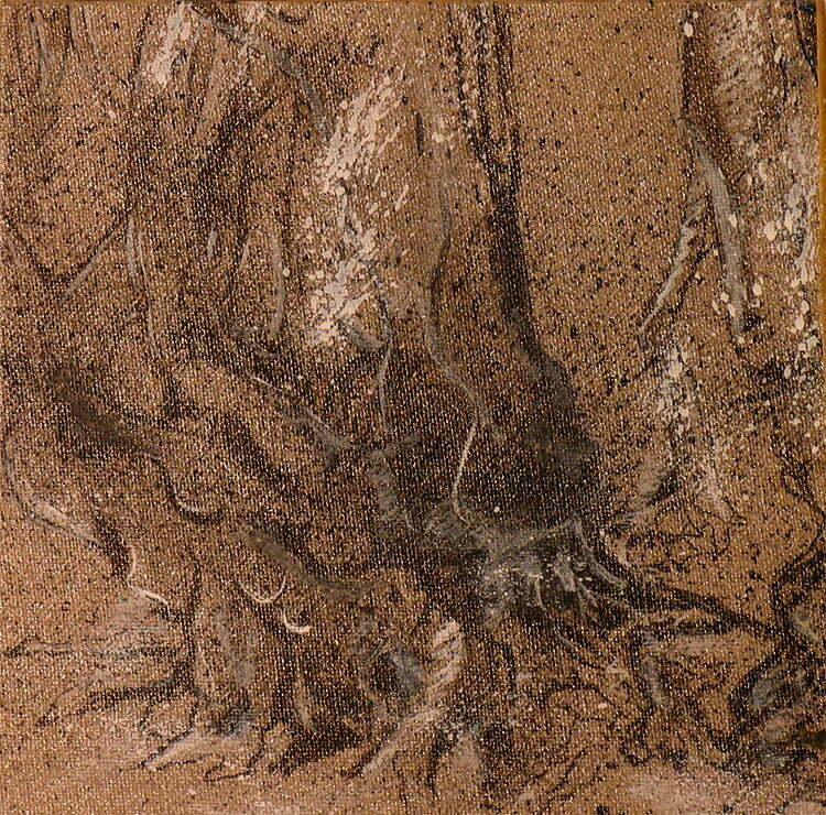 Queules - N°9 - 20x20cm - encre de Chine sur toile - 2011 - collection particulière.