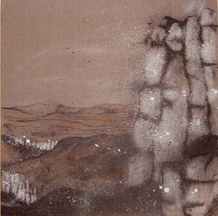 Sainte-Victoire N°3 - 60x60cm - encre de Chine sur toile - 2007 - collection particulière.