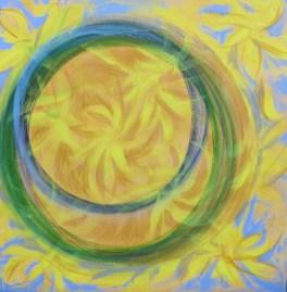Cercles fleuris / L 70 x H 70