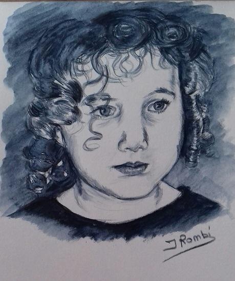 Mina crayon de couleur aquarellé