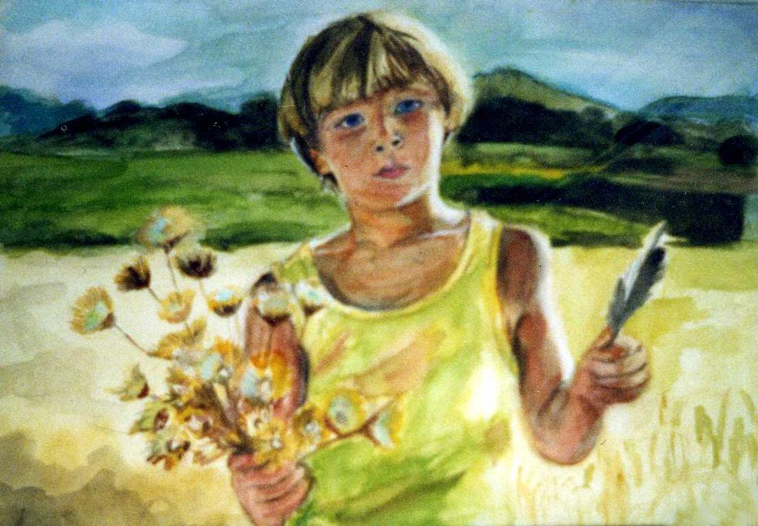 portrait Johan 5 ans