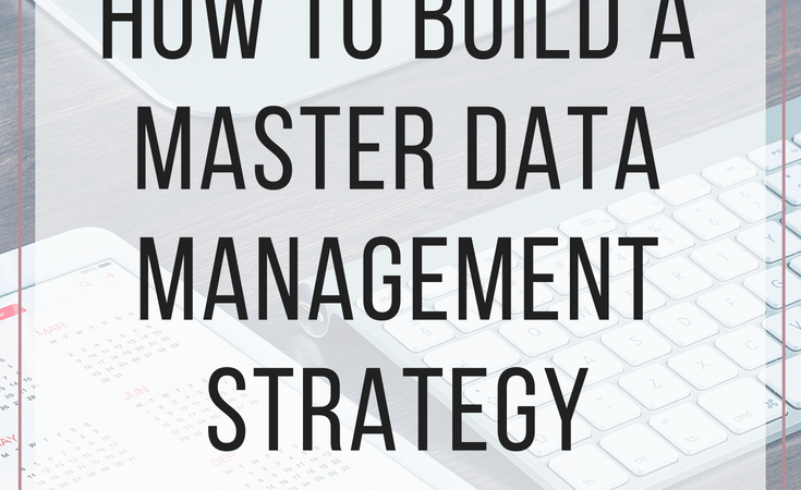 How to build a master data management strategy