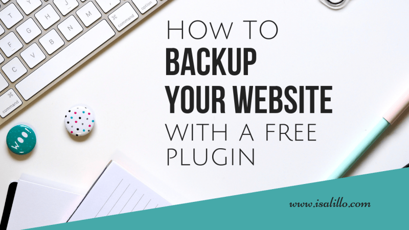 How to automatically backup a website with a free plugin