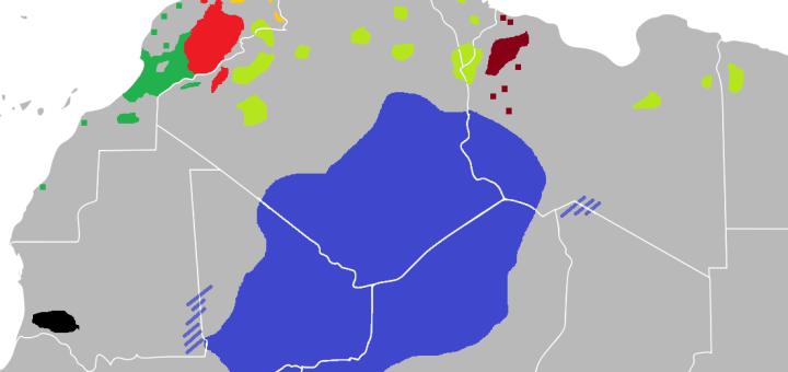 Langue Berbère Répartition géographique.