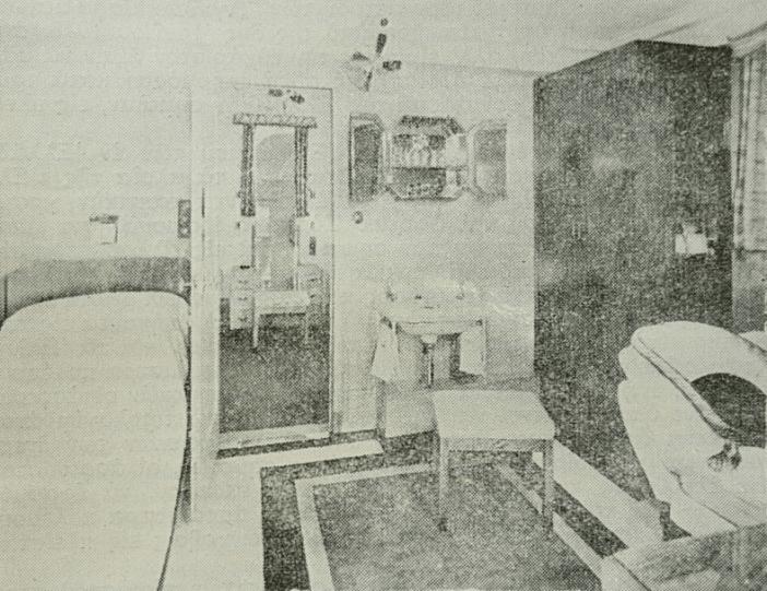Εικόνα μονόκλινης καμπίνας της πρώτης θέσης