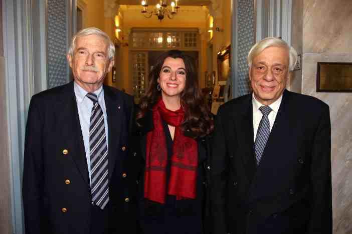 Η Α.Ε. ο Πρόεδρος της Δημοκρατίας Κύριος Προκόπιος Παυλόπουλος, ο Πρόεδρος του Ιδρύματος Αικατερίνης Λασκαρίδη κ. Πάνος Λασκαρίδης και η Αντιπρόεδρος του Ιδρύματος κα Κατερίνα Λασκαρίδη