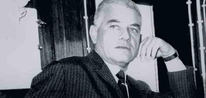 ΛΑΤΣΗ Πορτρέτο του Γιάννη Λάτση σε γέφυρα πλοίου, περί τo 1960