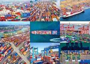 Tα πιο πολυσύχναστα λιμάνια διακίνησης εμπορευματοκιβωτίων