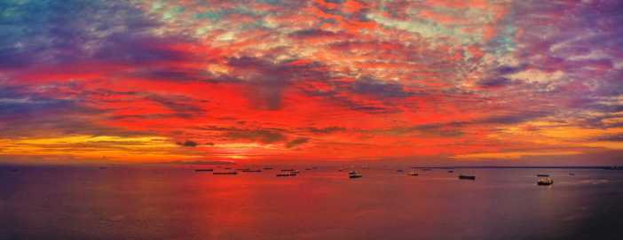 2. Sunset at Singapore bay. Credits to Cpt. Kiakotos A. Charalampos