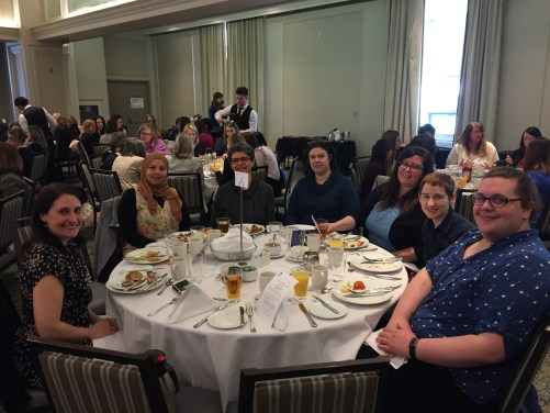ISANS staff attend the International Women's Day Brunch put on by the International Women's Federation Atlantic region