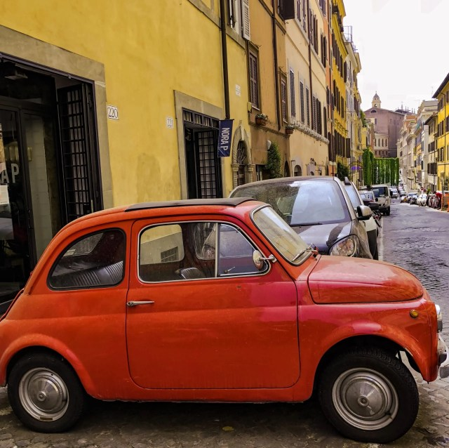 These colorful compact cars are fun to drive and easy to park in Rome