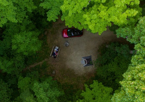 Campground at High Cliff State Park