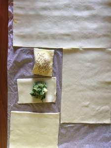 ravioli di sfoglia con cime di rapa
