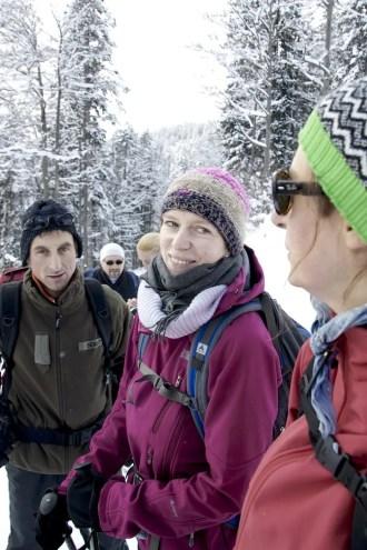 Schneeschuhwanderung im Heutal am 22.01.2011 mit Gü und Liane