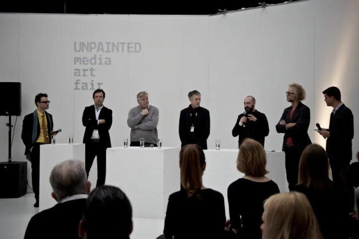 Diskussionsrunde auf der UNPAINTED media art fair 2014 | Foto: ISARBLOG