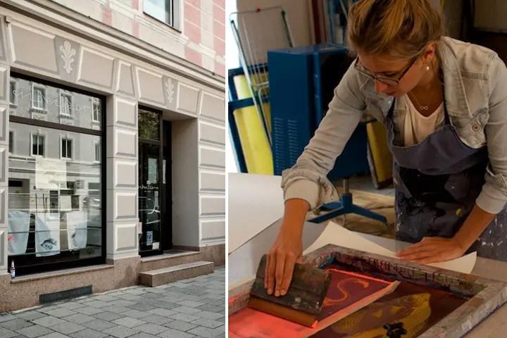 Sarah Braconnier bei der Arbeit in ihrer Silberfabrik   Foto: Monika Schreiner