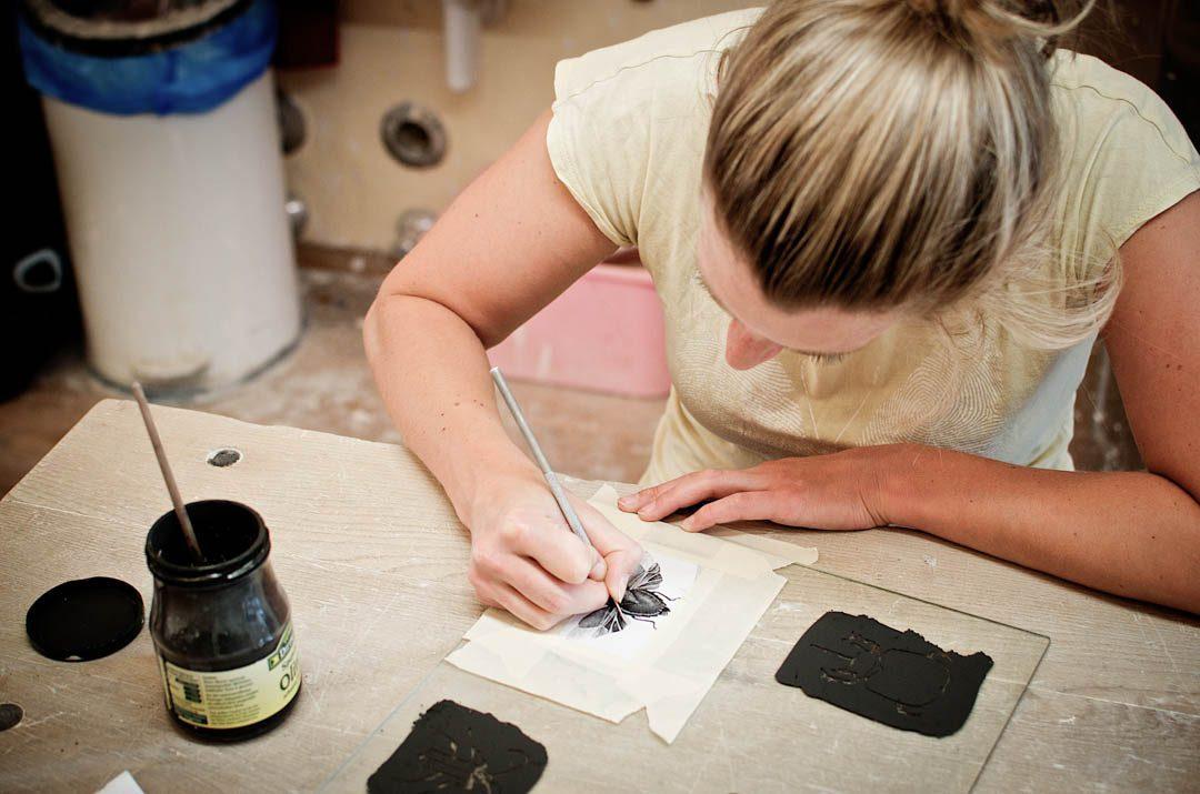 Annika Schüler bei der Arbeit - Foto ISARBLOG
