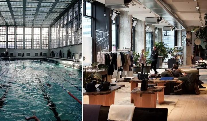 "Stadtbad Mitt( links ), ""The Store"" im Soho House ( rechts ) | Fotos: Gerhard Bauer"