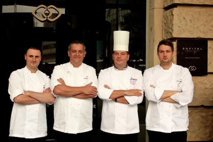 Stece Uhlig, Andreas Donnerbauer, Christophe Muller, Anton Gschwendtner | Foto: Sofitel Bayerpost
