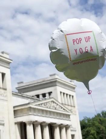 Popup Yoga München / Foto: Monika Schreiner ISARBLOG