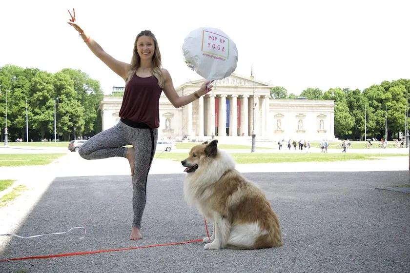 Pop up Yoga München / Foto: Monika Schreiner ISARBLOG