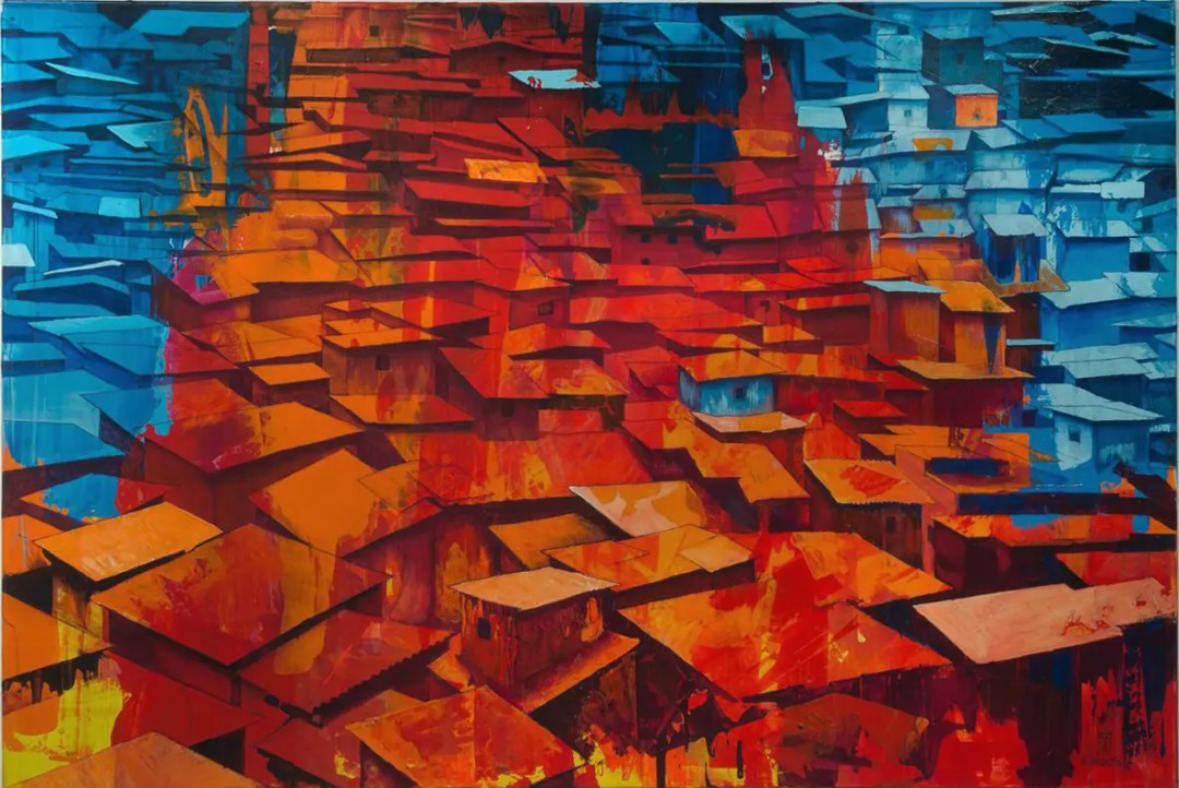 Red & Blue Slums von Matthias Mross HAUS 75