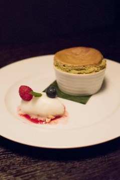 Matcha-Souffle im Restaurant Mun München Haidhausen