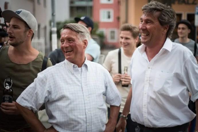 Hacker Pschorr Spezltour mit Obststandl Didi und Stephan Schneider / ISARBLOG