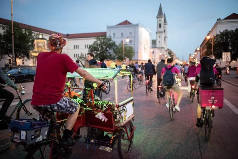 So wie 2018 könnte es wieder  aussehen bei der 10. Münchner Radlnacht am 10. August 2019