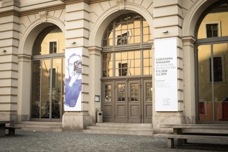 Eingang Literaturhaus München